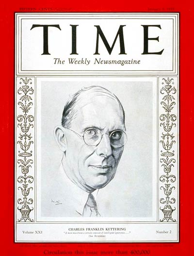 Time magazine cover January, 9 1933