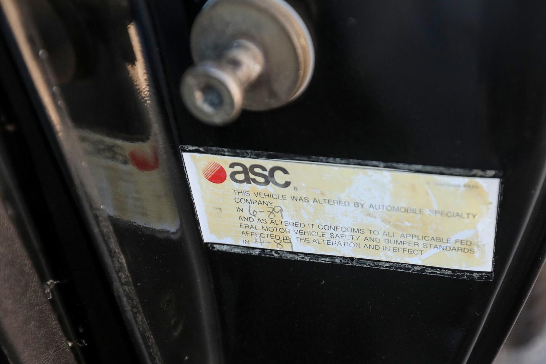 ASC Convertible Firebird Formula door tag