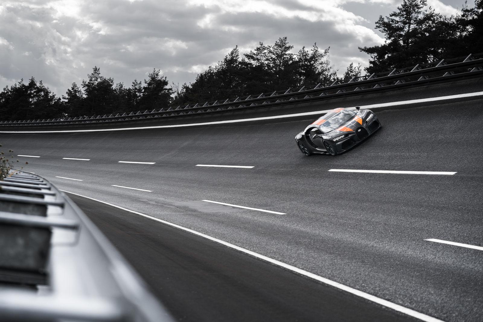 Bugatti Chiron up the bank