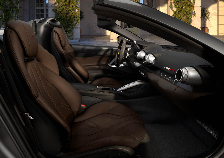 Ferrari 812 GTS seat detail