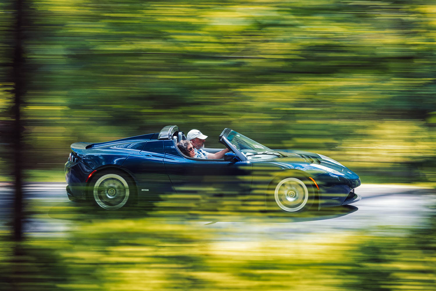 """If there is an antithesis to Chapman's """"simplify, then add lightness"""" mantra among our test cars, it is the Tesla, with its electric motor and heavy batteries. Yet the package still evokes all the cutting-edge charm of the Elise, on which it's based."""