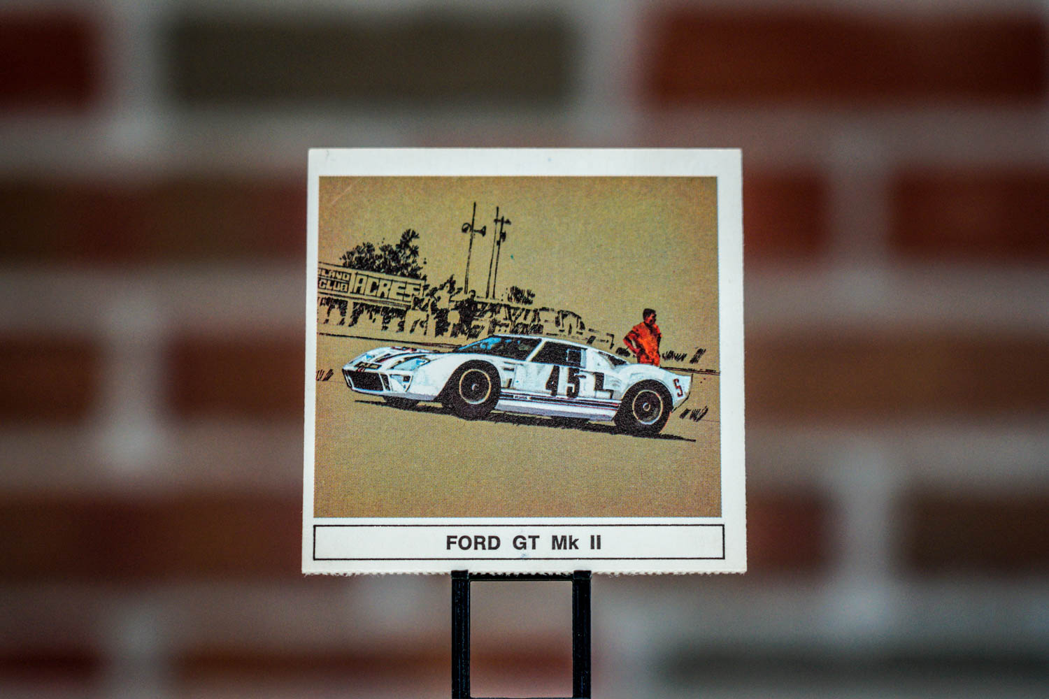 """B-A Gallery of Great Cars"" collector card"