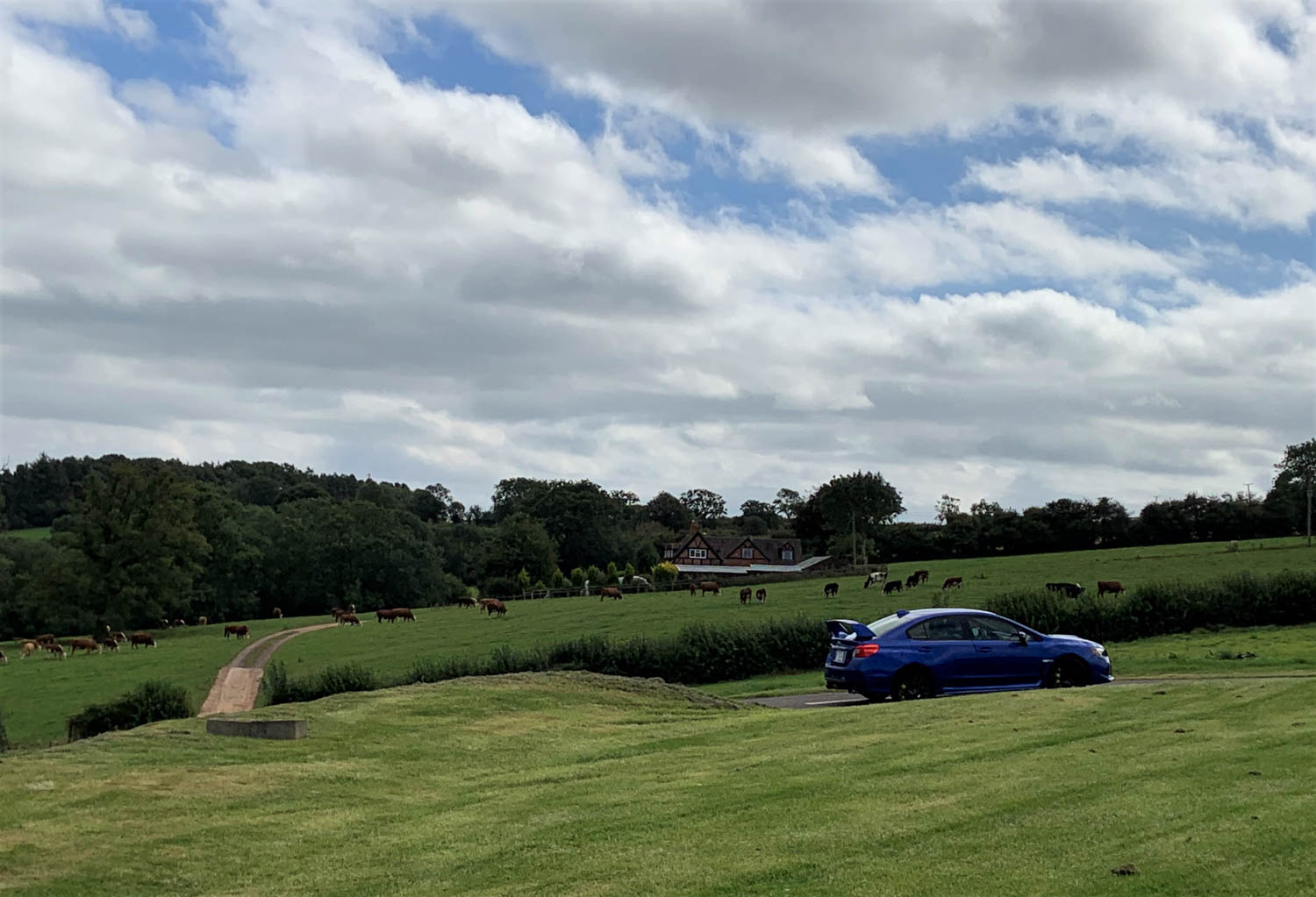 Simon and Charlotte Durling's home is at the top of Shelsley Walsh, just beyond the turnout.