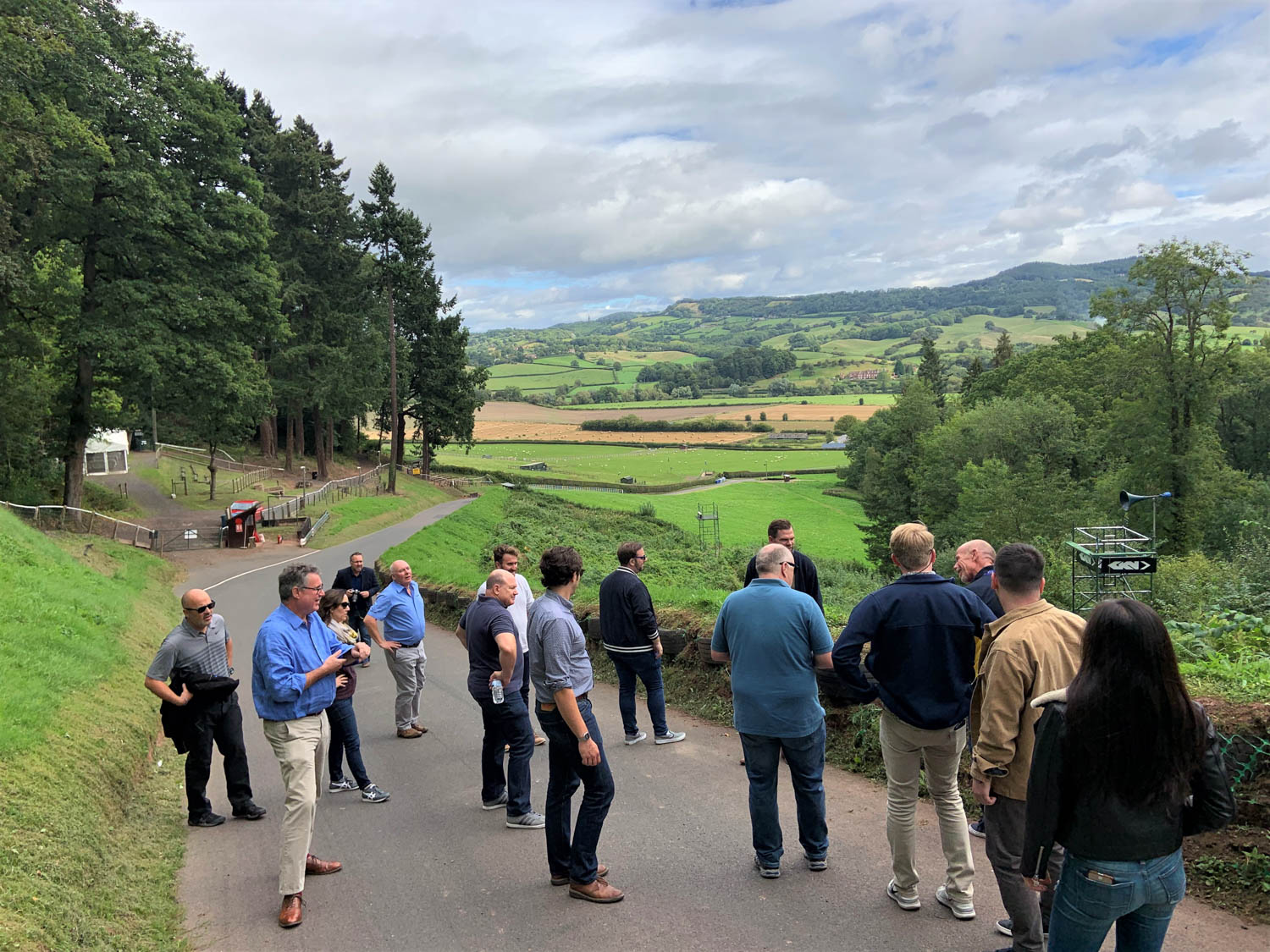 Before drivers take a crack at Shelsley Walsh, they walk the course to gain insider knowledge—and admire the stunning English countryside.