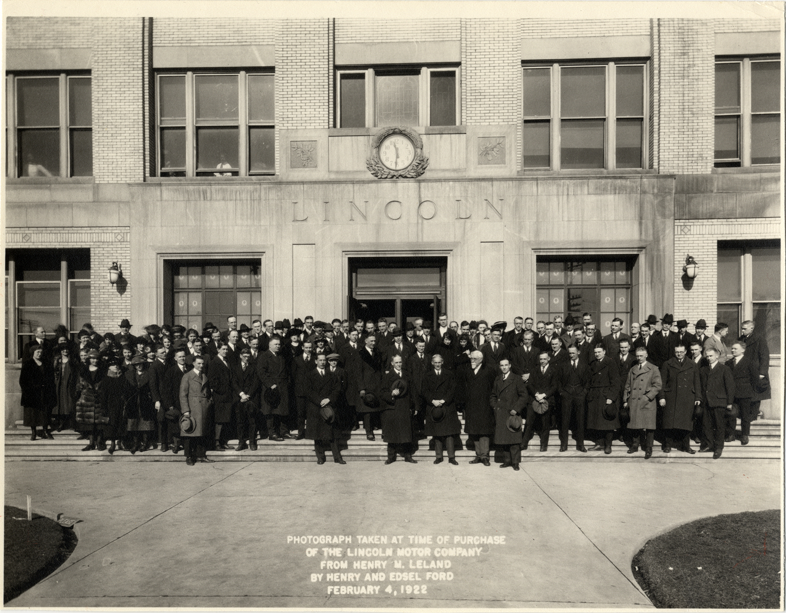 henry leland with fords lincoln factory
