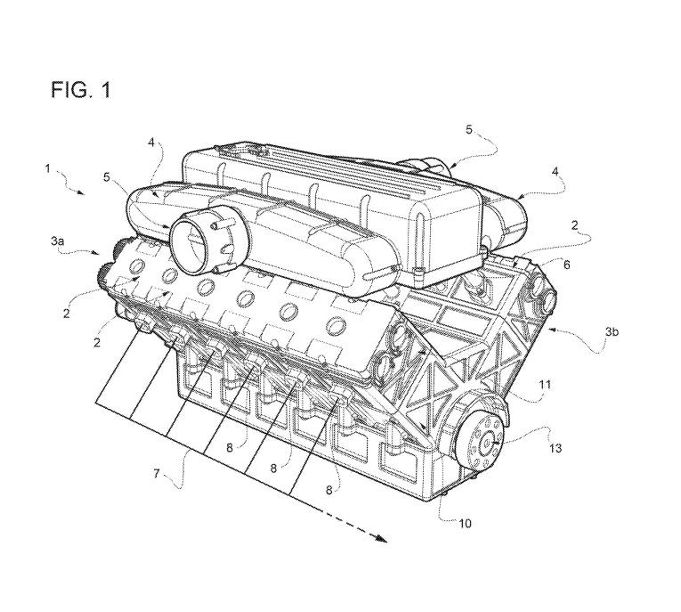 Ferrari naturally-aspirated V-12 engine