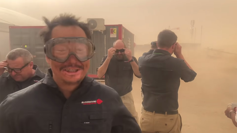 Bloodhound LSR Record Run Sandstorm