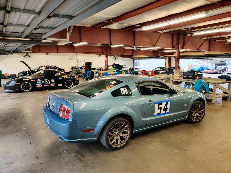 Mustang Racecar Rear Three Quarter