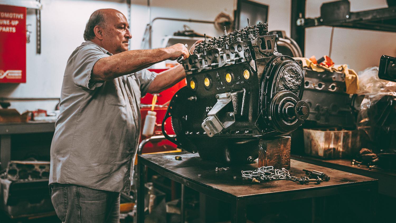 Frank Monise Jr. Triumph TR6 Engine