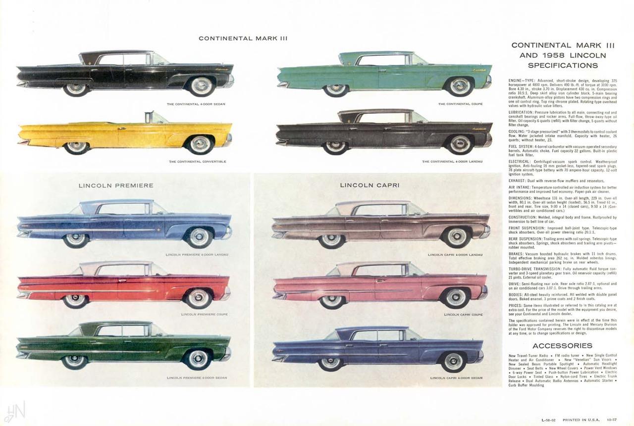 1958 Lincoln Spec