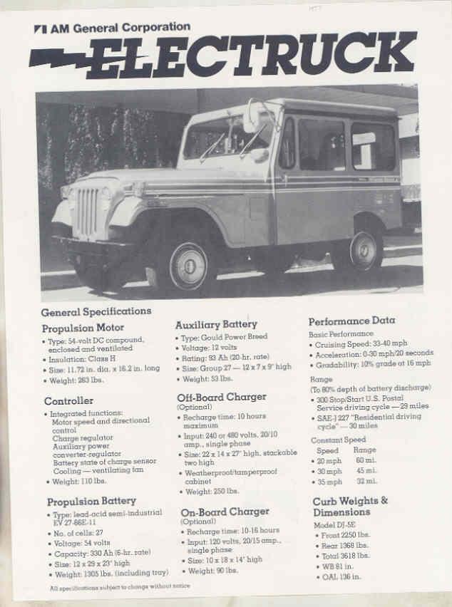 AMC Jeep Electruck Brochure