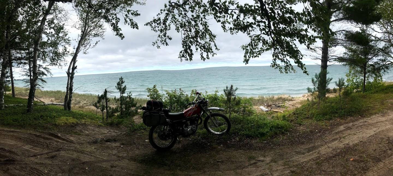 vintage kawasaki motorcycle lakeside