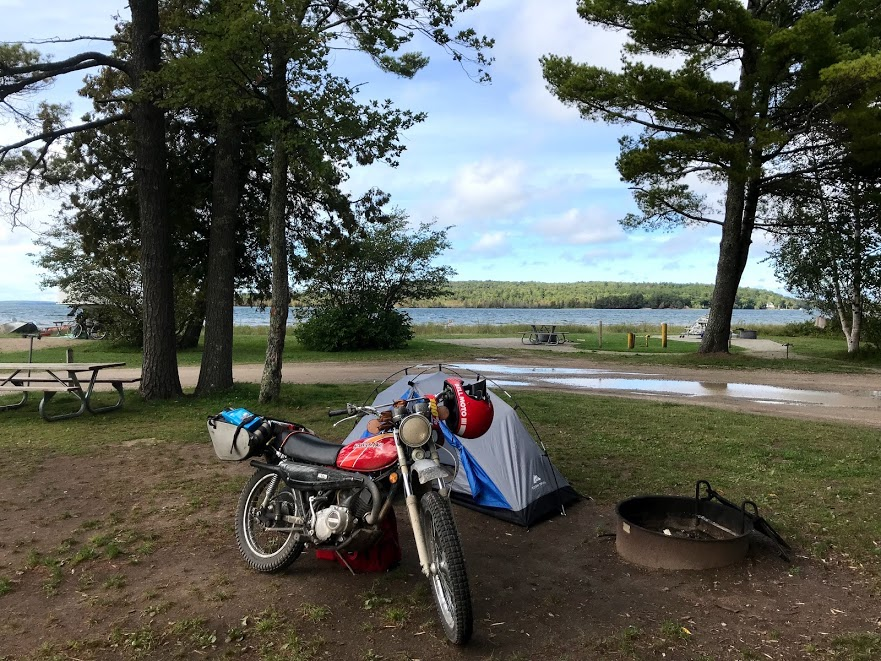 motorcycle campground tent