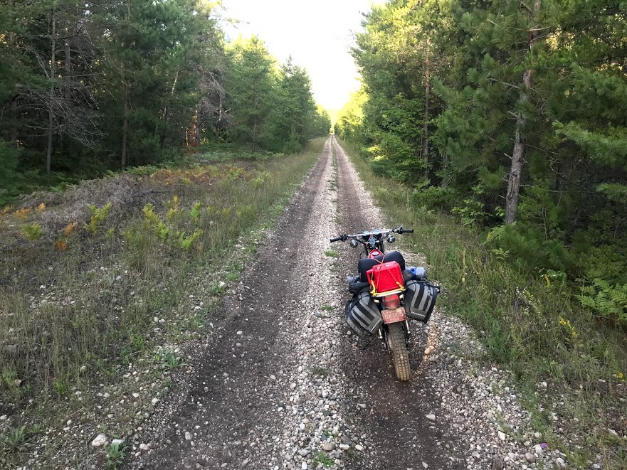 motorcycle on open trail