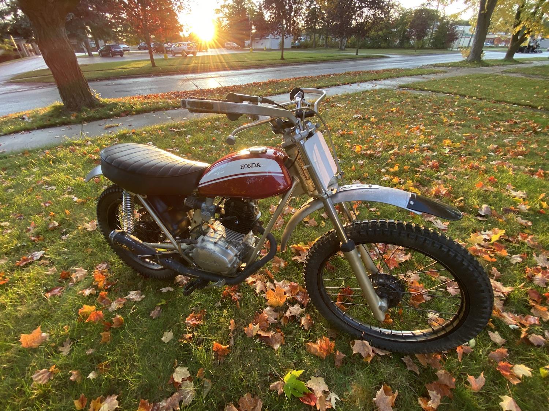 Honda Motorcycle in yard
