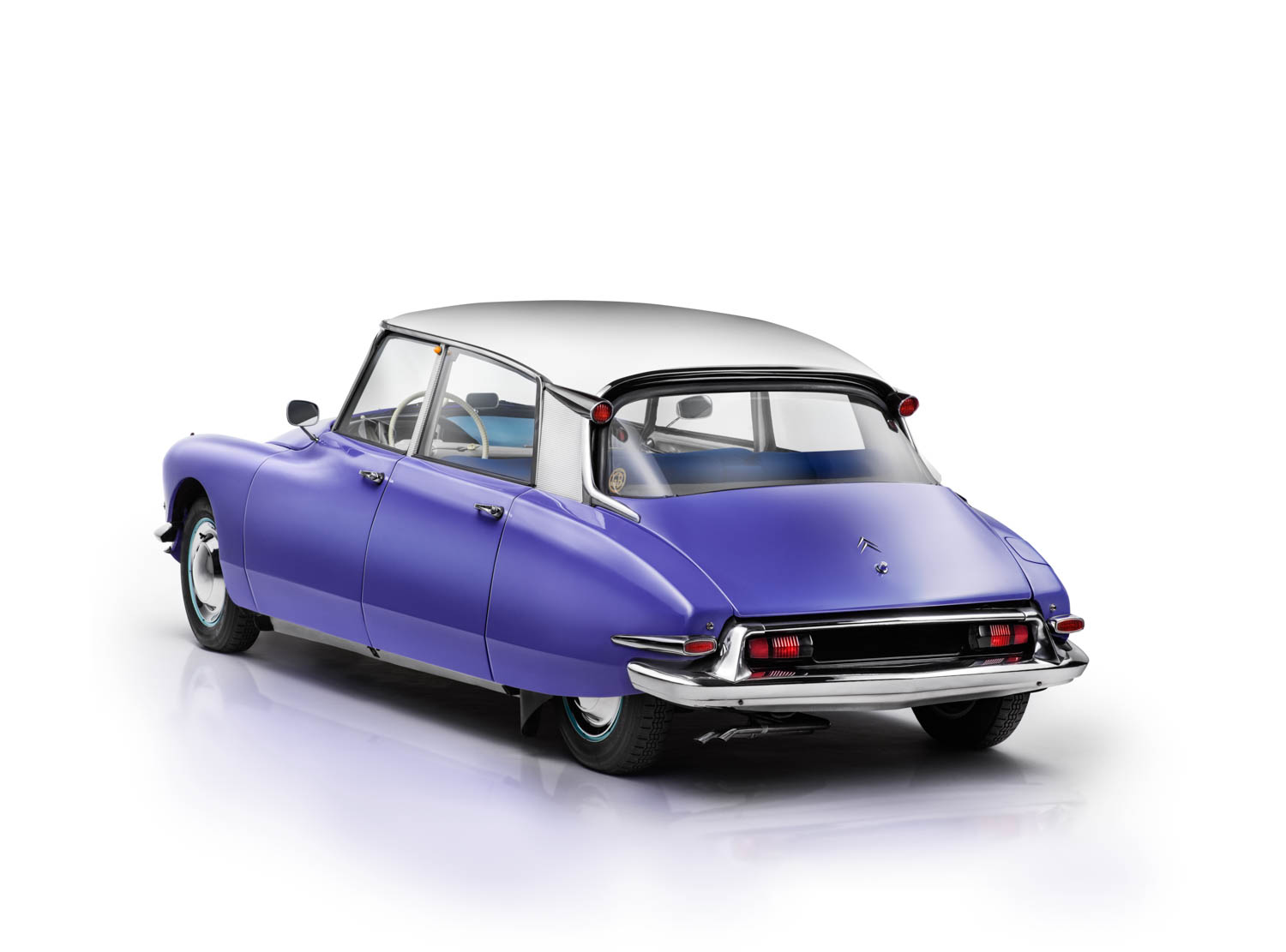 C'est magnifique! Owner John Behrens of Tucson purchased this 1959 DS19 because of his fond memories of them growing up in France. The color, Bleu Delphinium, was his sister's favorite and was only available in '59. It is the rarest DS color, he says.