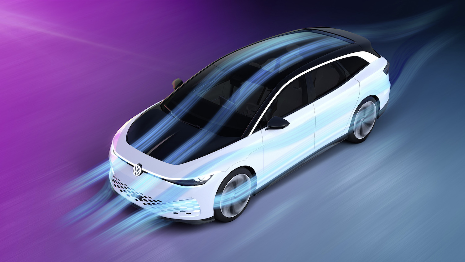 VW ID space vizzion concept electric vehicle aerodynamics