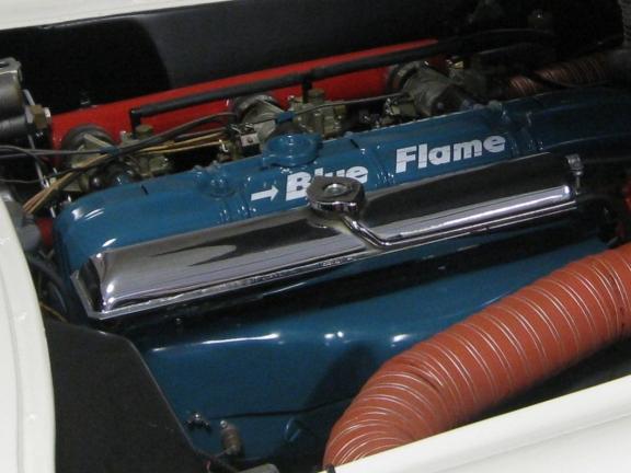 Corvette Blue Flame Six Engine
