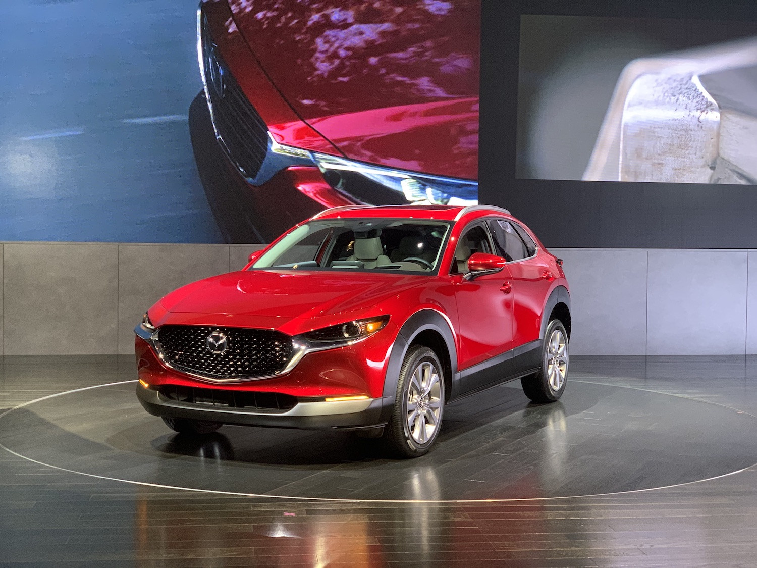 2020 CX-30 front three quarter on stage