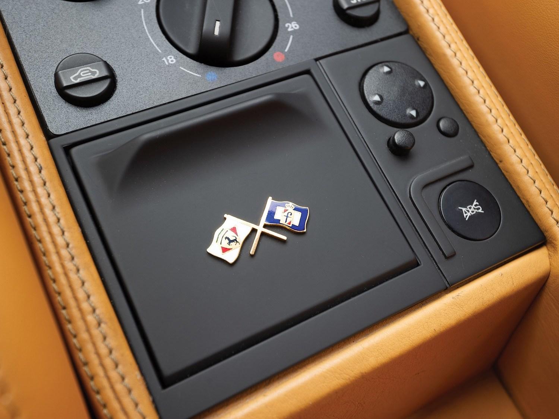 1997 Ferrari F355 Berlinetta flag pin detail