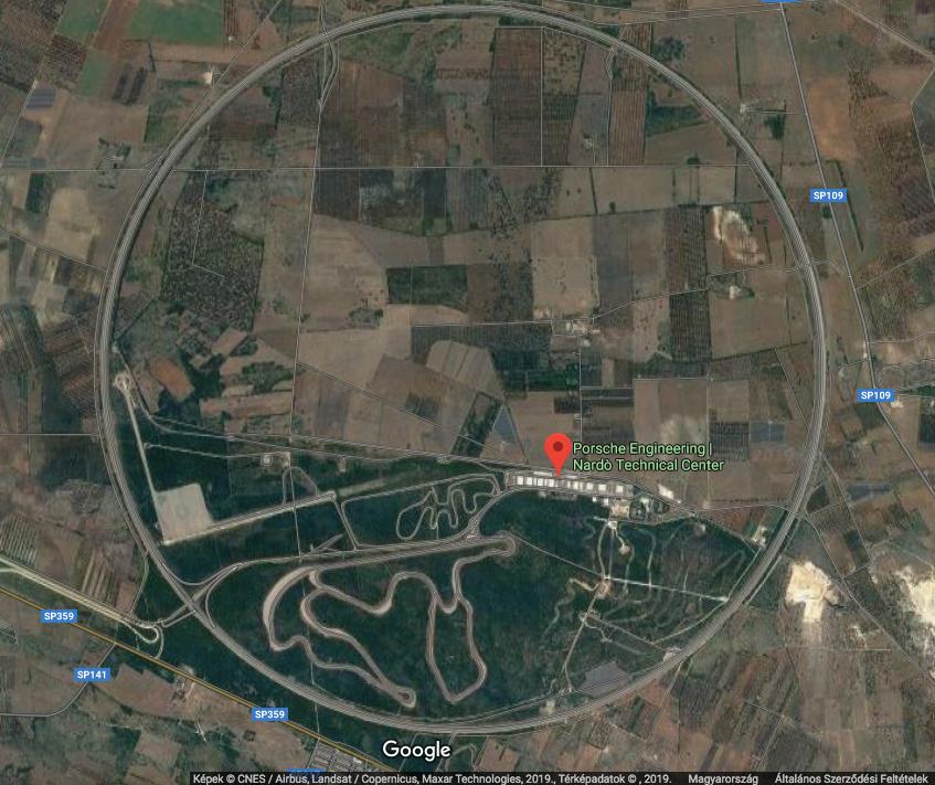 Nardo Facility Google Maps
