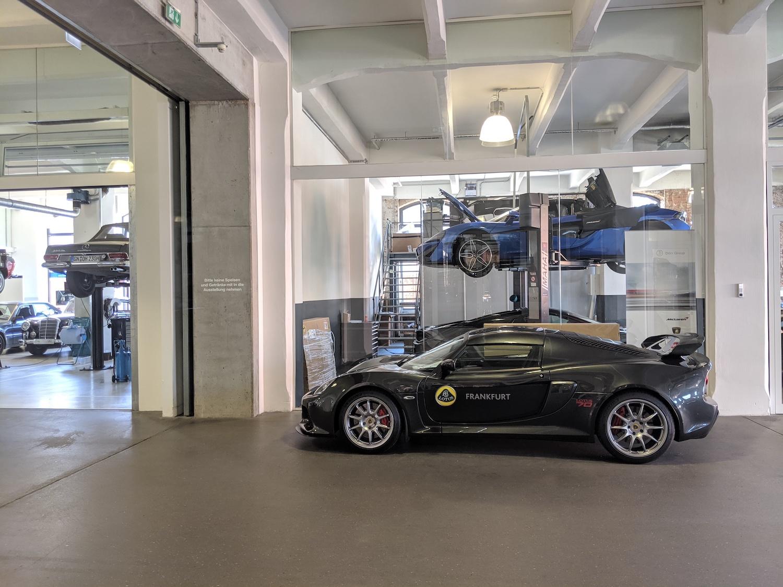 Klassikstadt lotus car in hall
