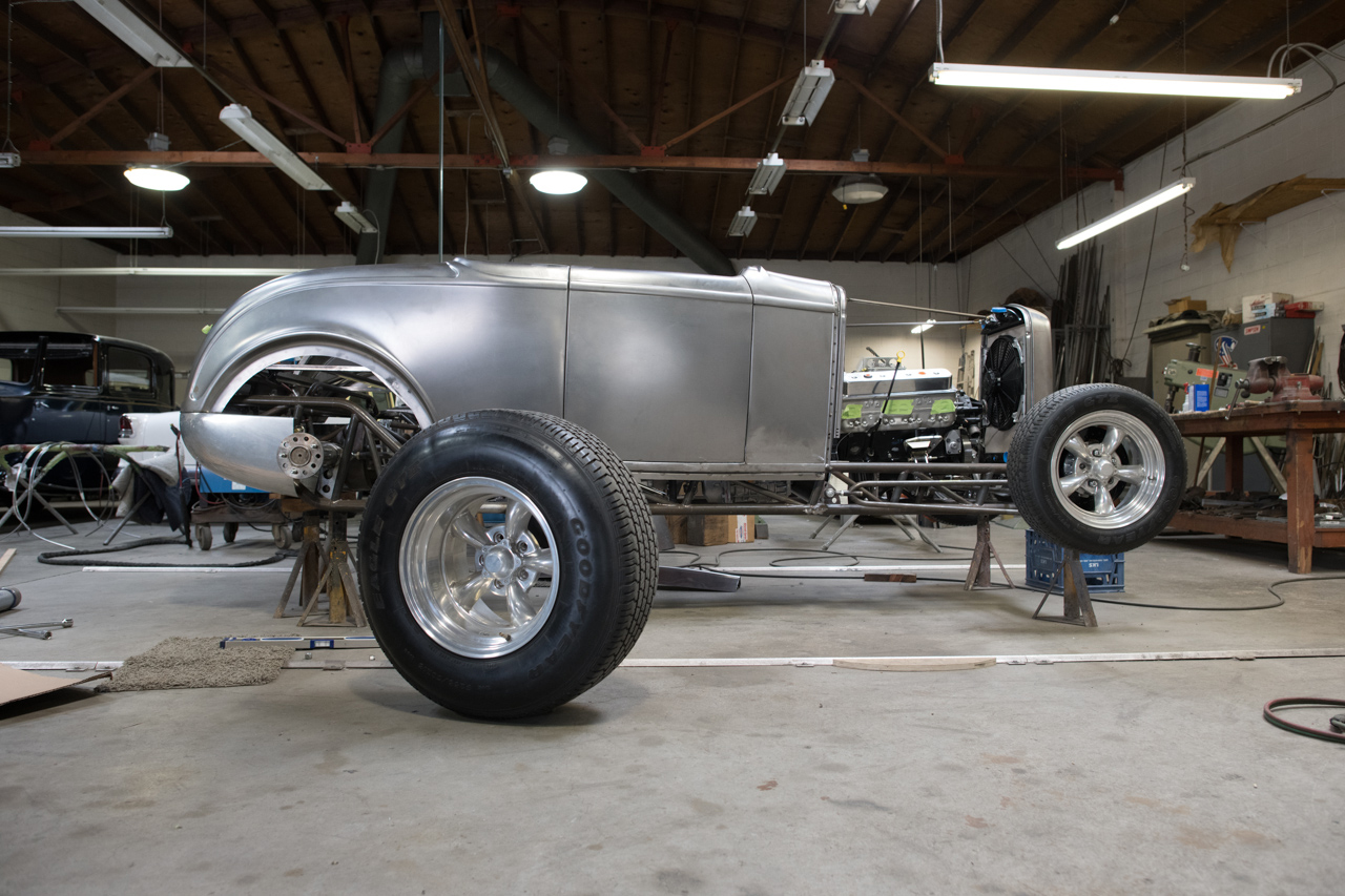 This classic-looking roadster rides on Moal's Roadchamp tube chassis. It uses torsion bars front and rear, which offer a better ride than leaf springs and package more easily than coil springs.