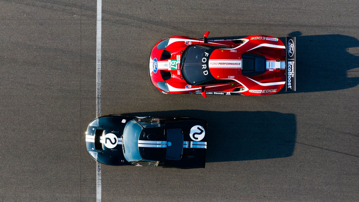 Digital and analog racers unite to salute Ford's racing heritage.