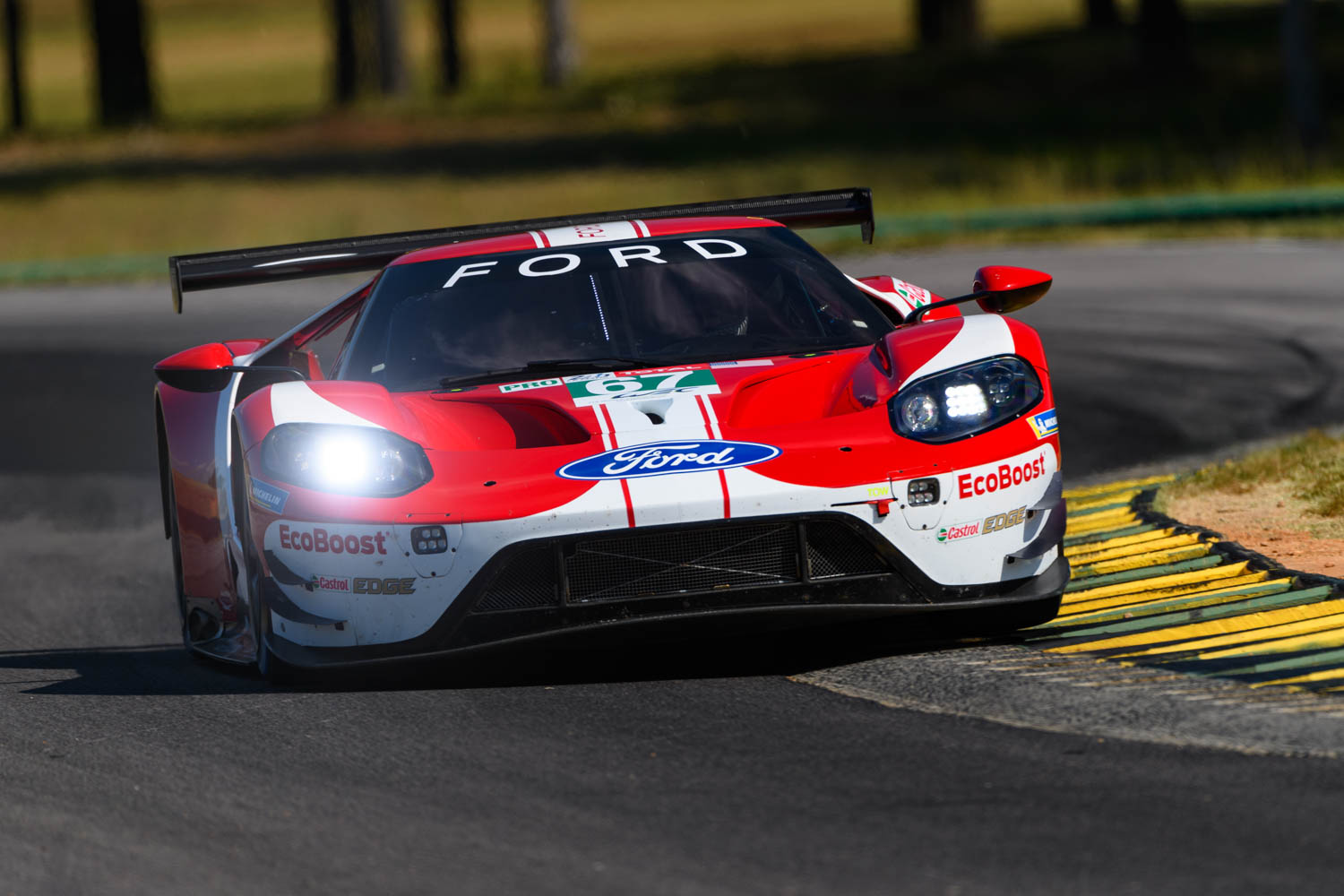 The GTLM suspension has to be stiff enough to keep the car flat during braking and cornering but compliant enough to drive on the curbs. The GTLM does both expertly, thanks in part to dampers with multiple adjustments and 250,000 potential settings.
