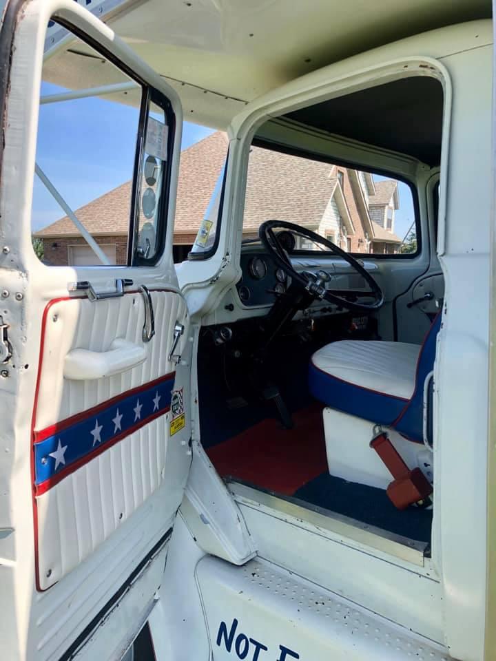 1965 Dodge C500 Hauler open door interior