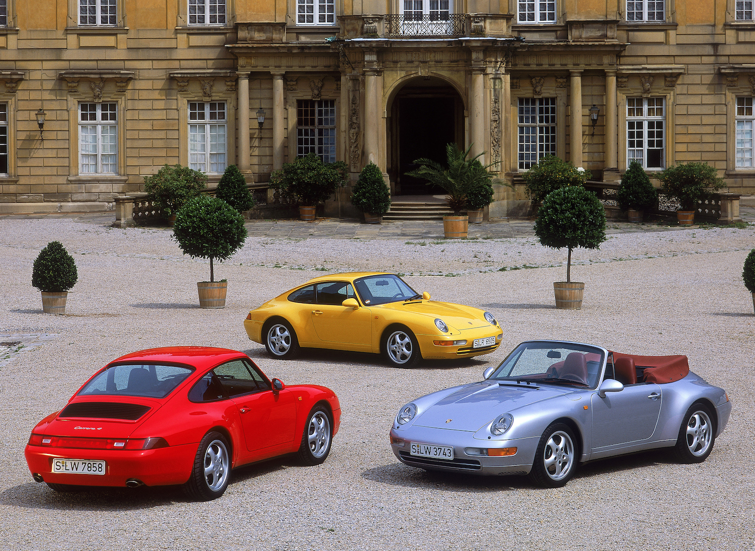 933 cars red yellow silver