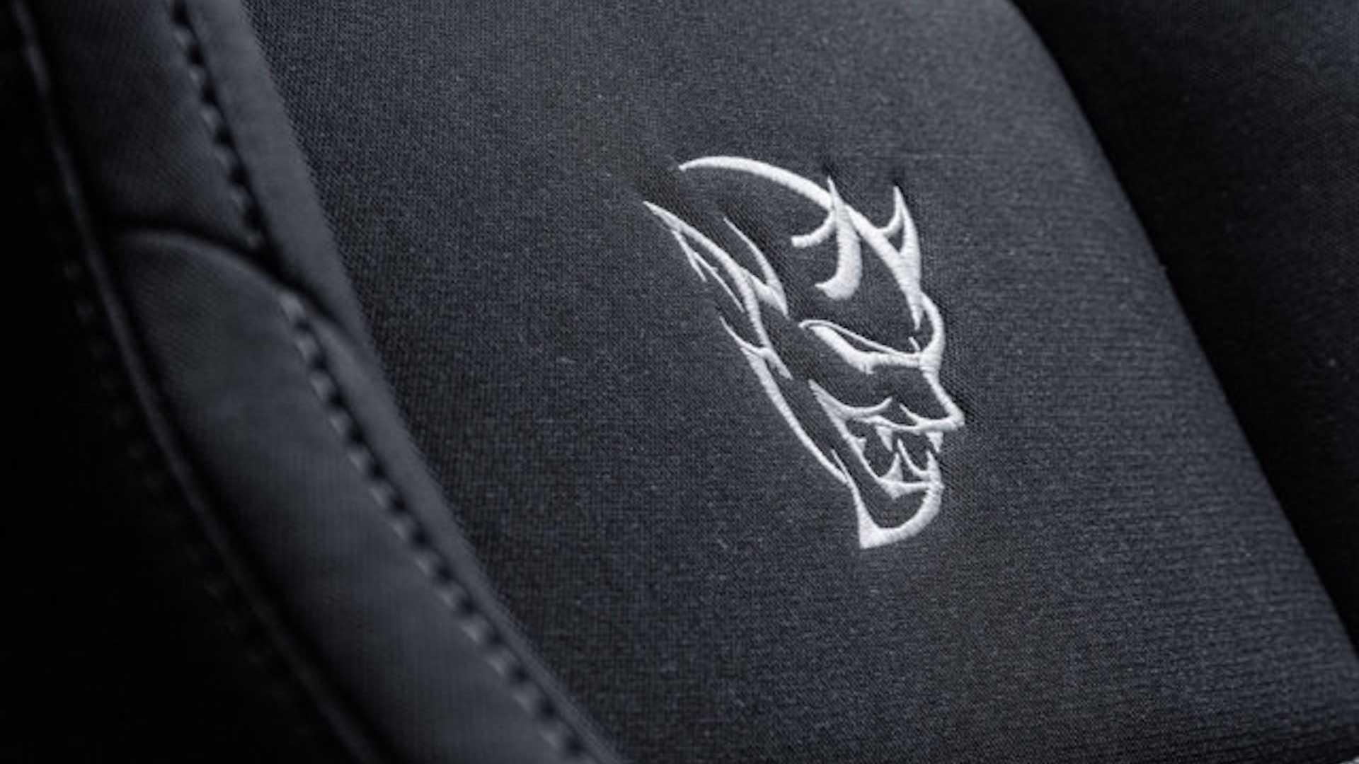ralph gilles dodge demon seat decal detail