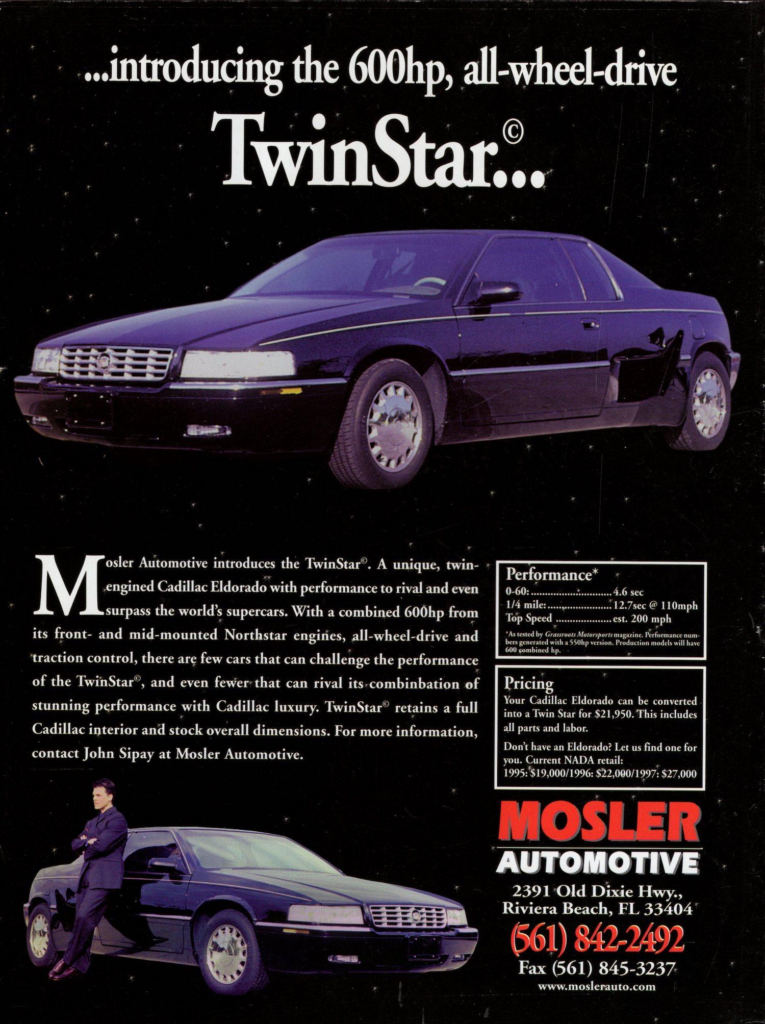 2000 Mosler TwinStar Cadillac Eldorado