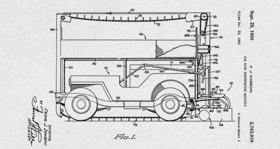1950 Model B zamboni resurfacer