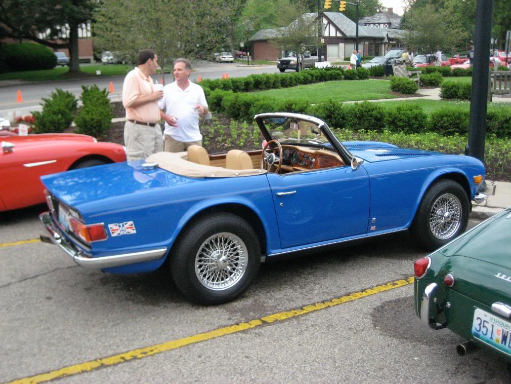 Triumph tr-6 rear three-quarter