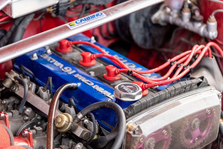 modified engine close-up