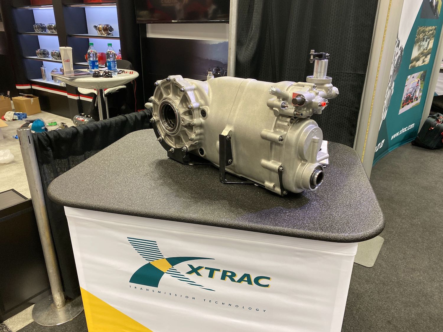 xtrac transaxle on display