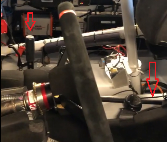shifter linkage setup with arrows