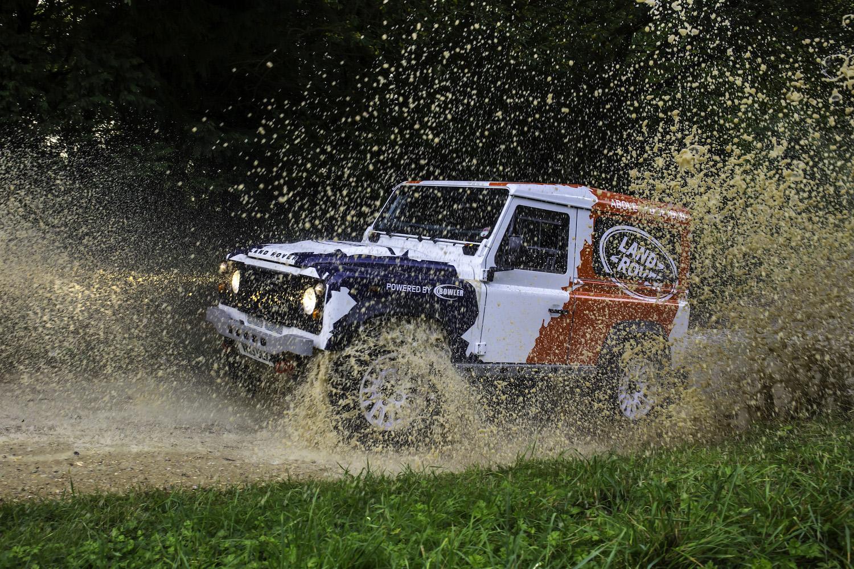 driving through flying mud