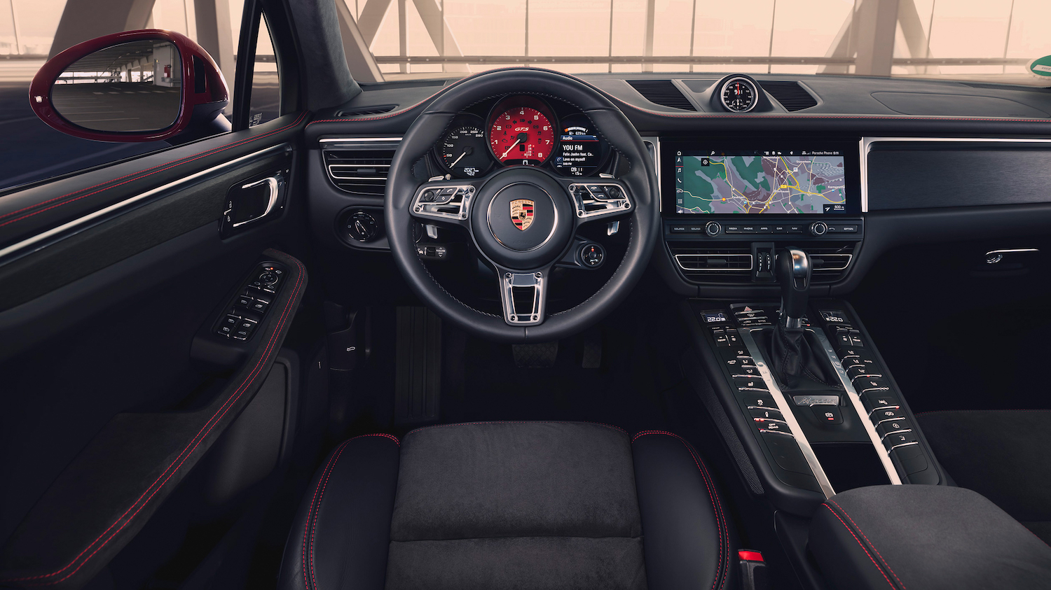 interior front dash and steering wheel