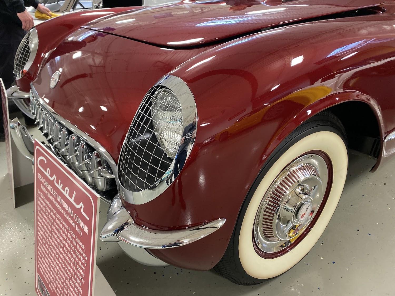 1954 chevrolet motorama corvair front three-quarter close-up