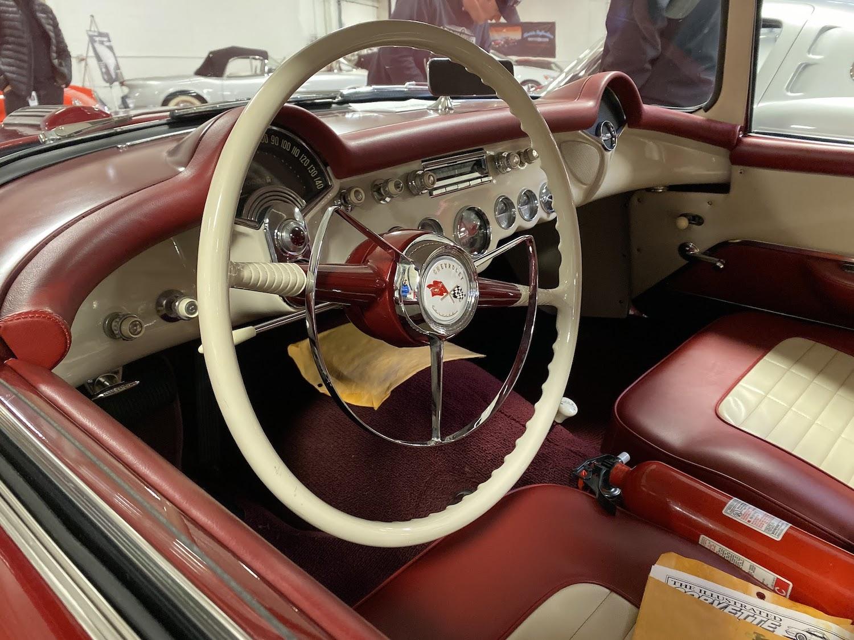 1954 chevrolet motorama corvair interior steering wheel