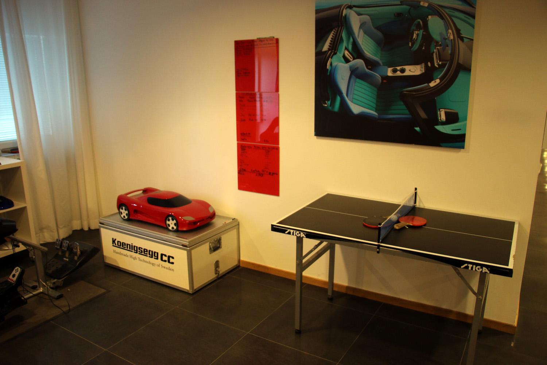 red prototype scale model