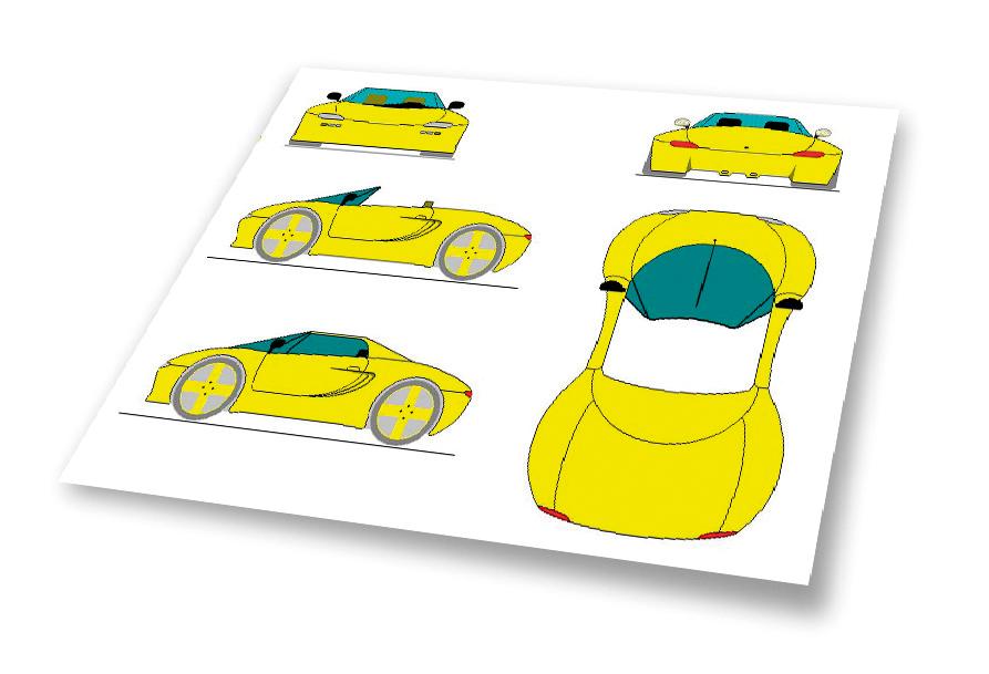 Koenigsegg early prototype sketches