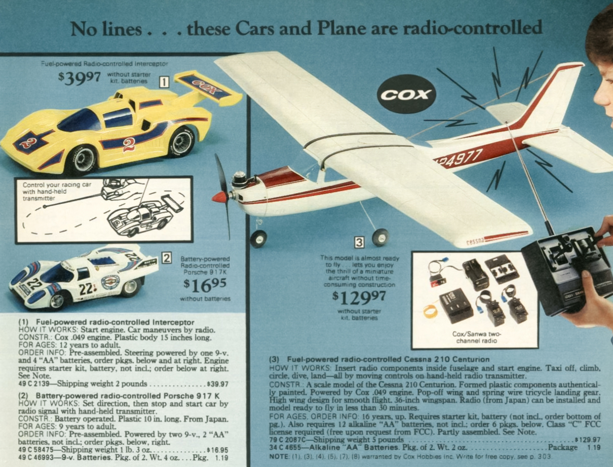 COX Powered RC Cars