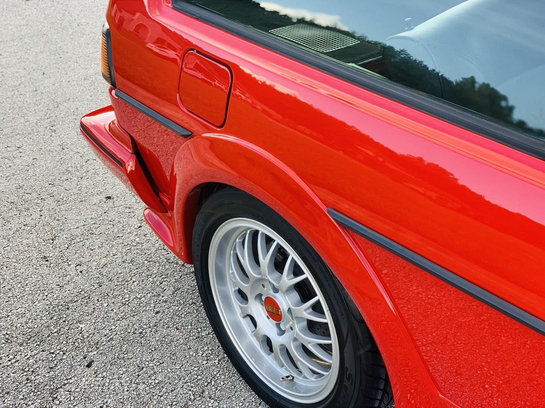 red 1986.5 Volkswagen Scirocco 16V rear wheel