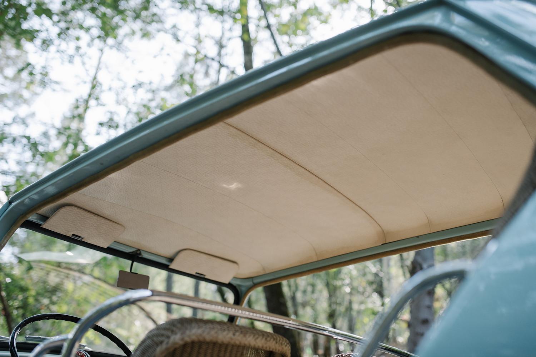 1962 Austin Mini Beach Car interior upholstery