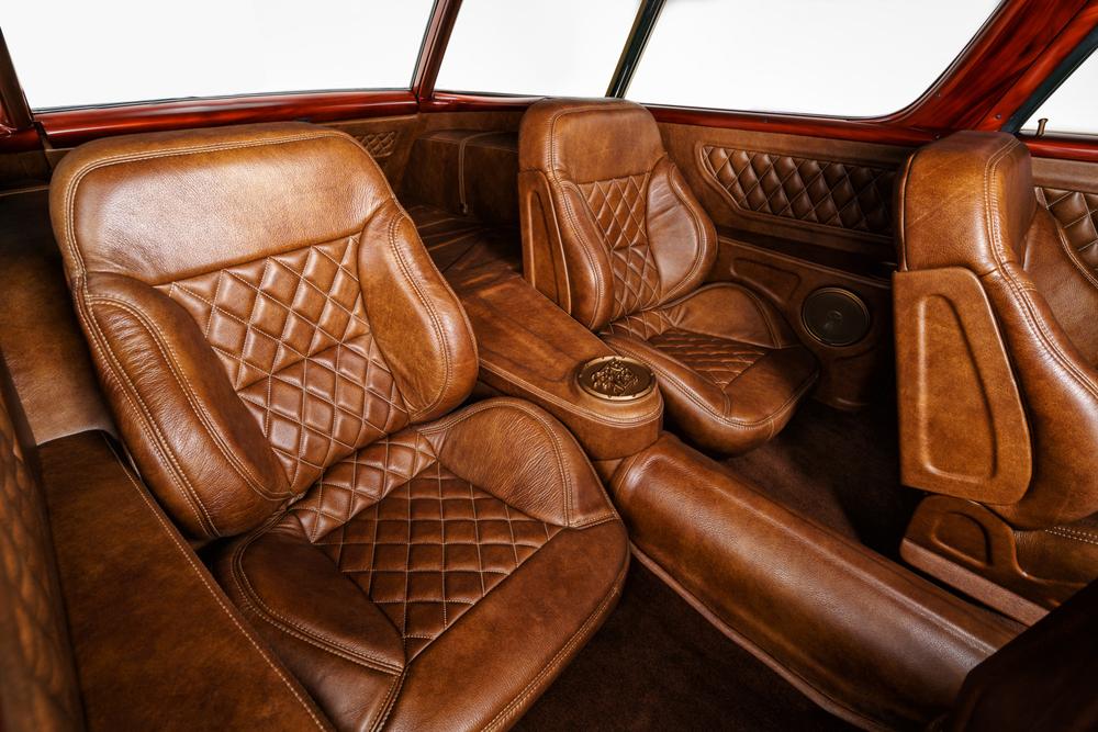 wagon brown leather interior