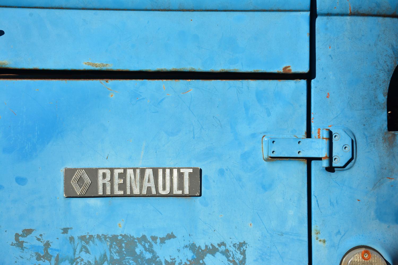 blue rear badge detail