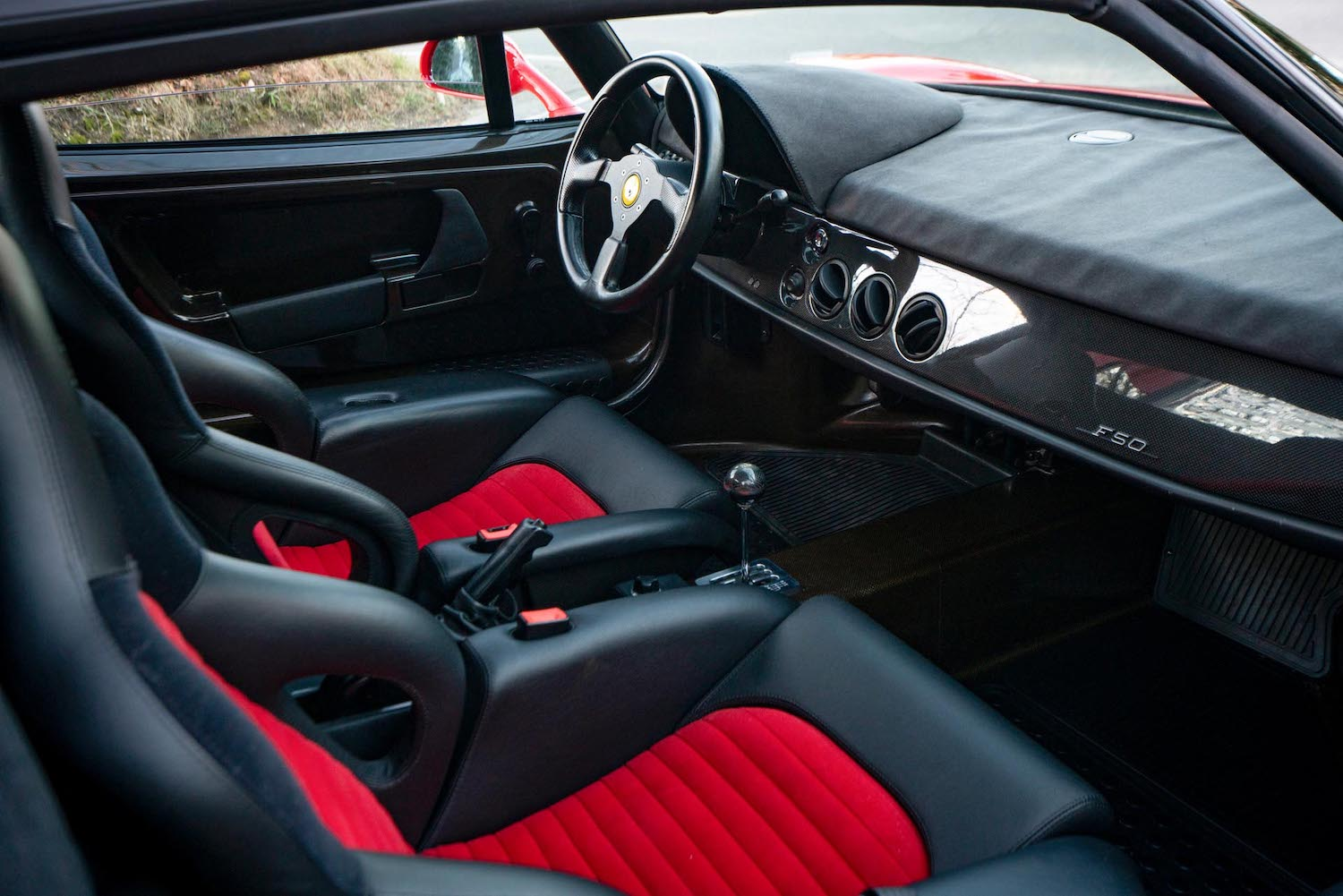 interior front seats and dash